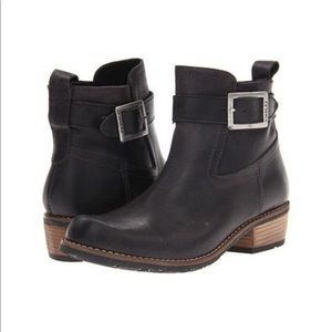 Wolky EUR 39 Bravo Black Leather Moto Ankle Boots